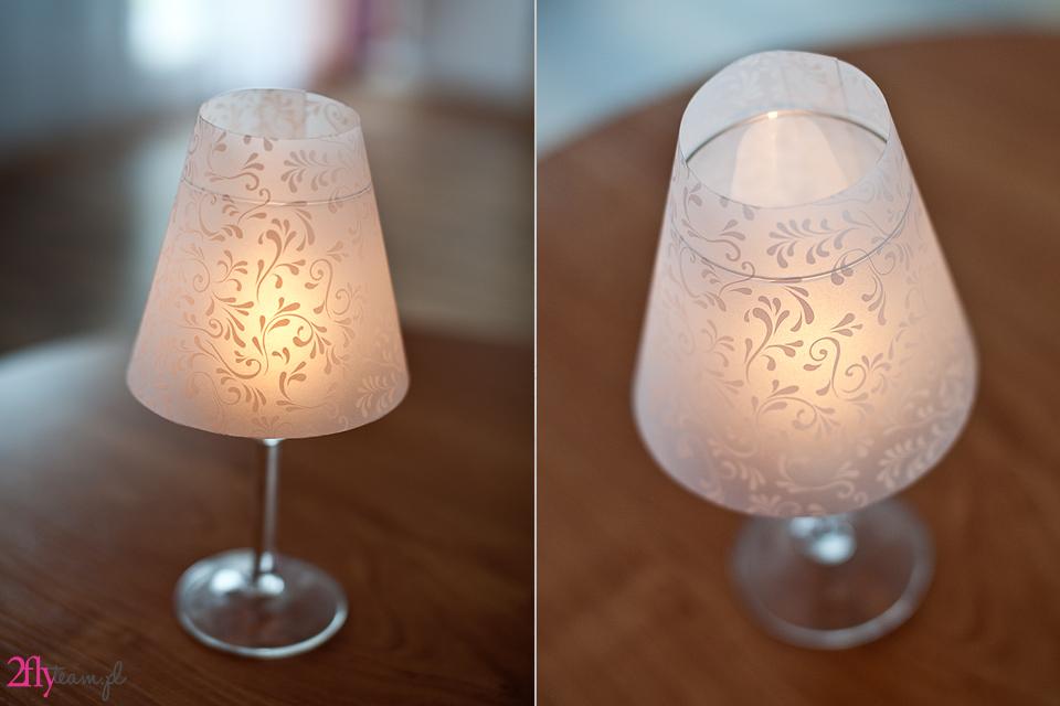 lampka diy przyjęcie dekoracje ślubne
