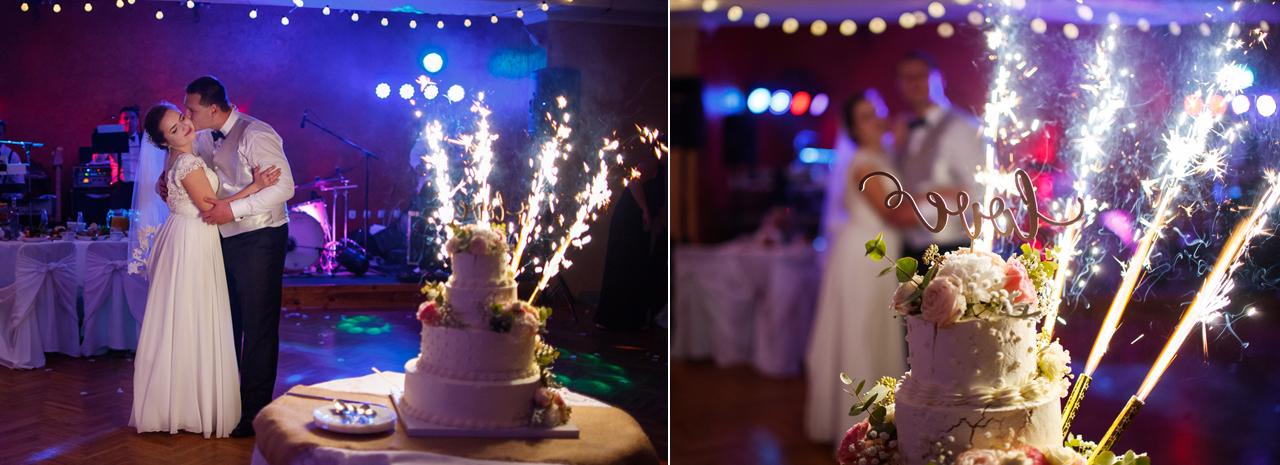 fotografia ślubna romantyczne wesele babice 2flyteam tort weselny
